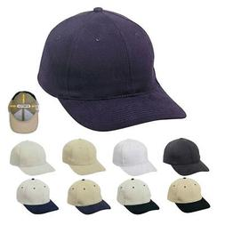 1 Dozen Flex Fit Brushed Cotton Fitted 6 Panel Baseball Cap