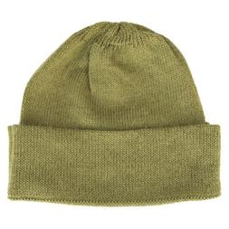 100% Alpaca Wool Cap Beanie Hat Cane Green One Size ~ Women
