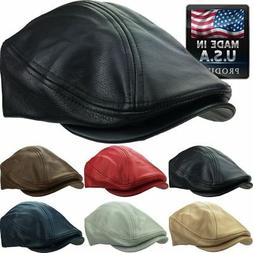 Kbethos 100% Genuine Leather Ascot Newsboy Ivy Hat Cap Gatsb