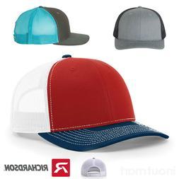 Richardson 112 Trucker Hat Mesh Back Snapback Ball Cap Adjus