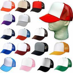 12 TRUCKER HATS ~ WHOLESALE BULK LOT ~ 1 DOZEN Mesh Caps Adj