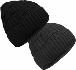 Loritta 2-Pack 2 Hats Warm Knitted Wool Thick Baggy Slouchy