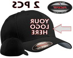 2 pcs Custom Logo Embroidered # 5001 Flexfit Fitted Baseball