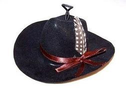 2 WESTERN COWBOY MINI HATS car mirror novelty hat small blac