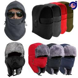 2017 Men Winter Fleece Balaclava Hat Trooper Snow Ski Neck F