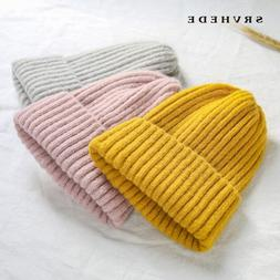 2019 New Winter Solid Color Wool <font><b>Knit</b></font> Be