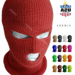 3 hole full face mask ski mask