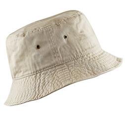 THE HAT DEPOT 300N Unisex 100% Cotton Packable Summer Travel