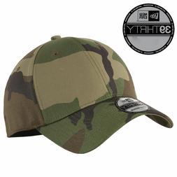 New Era 39Thirty Blank Stretch Cotton fitted CAMO Hat/Cap NE