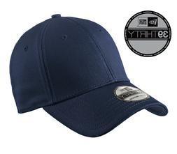 New Era 39Thirty Blank Stretch Cotton fitted Navy Hat/Cap NE