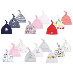 3Pc Baby Boys Girls Knot Hat Cotton Adjustable Cap for Newbo