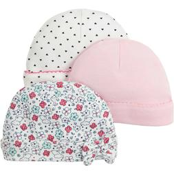 3PCS/Set Newborn Baby Boys Girls Hats Knotted Cotton Soft Ca