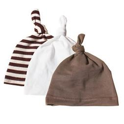 3PCS/Set Toddler Baby Boys Girls Hats Knotted Cotton Soft Ca