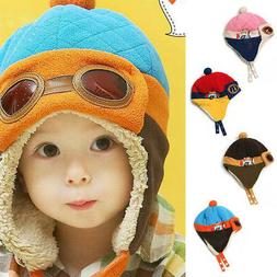 4 Colors Winter Warm Cap Hat Baby Boys Girls Toddler Kids Pi