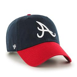 '47 Brand Atlanta Braves Navy Blue-Red Cleanup Adjustable Ha
