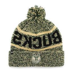 '47 Milwaukee Bucks Green Cuff Northmont Beanie Hat with Pom