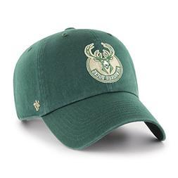 '47 NBA Milwaukee Bucks Adult NBA Clean Up Adjustable Hat, O