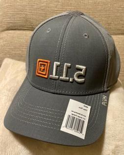 511 Tactical Gear Logo Gray Baseball Cap Hat Adjustable Poly