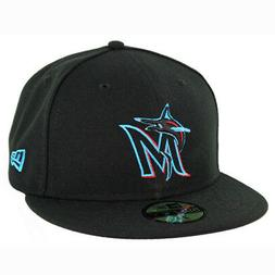 New Era 59Fifty Miami Marlins GAME Fitted Hat  Men's MLB Cap