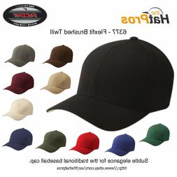 6377 Authentic Flexfit® Men's Brushed Twill Fitted Hat All