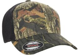 6911 Flexfit® Mossy Oak Hat Stretch Mesh Trucker Cap Mid Pr