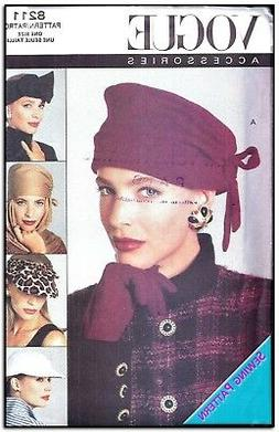 Vogue 8211 Accessories Hats UC-FF Pattern Women's Plus szOSZ
