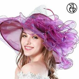 Fs 9 Colors Fashion Summer Organza Sun Hats For Women Elegan