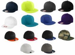 New Era 9FIFTY Flat Brim Snapback Hat Cap -Blank - White, Bl