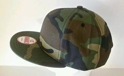 New Era 9Fifty Flat Snapback Hat Cap Blank Camouflage Army C