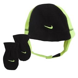 Nike Swoosh Logo Toddler Boy's 2/4T Fleece Beanie Hat & Mitt