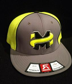 """Trucker Hat Mesh Richardson R 165 Charcoal Grey Neon with """"M"""