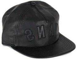 Vans Shoes Mens Novelty Faux Leather Trucker Hat Cap Black A