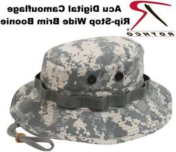 Acu Digital Camo Military Tactical Rip-Stop Wide Brim Bucket