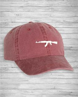 AK-47 Dad Hat Pigment Dyed Unstructured Twill Cap Baseball C