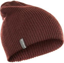 Columbia Ale Creek Winter Knitted Hat  Beanie Warm dark-red