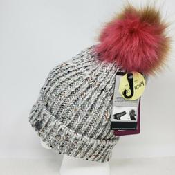 Angela & William Faux Fur Pom Pom Knit Hat ~ NWT Off White W
