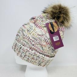 Angela & William Faux Fur Pom Pom Knit Hat ~ NWT