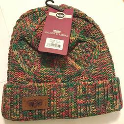 Angela & William Multi Rainbow - Knit Beanie Slouch Hat-BN27