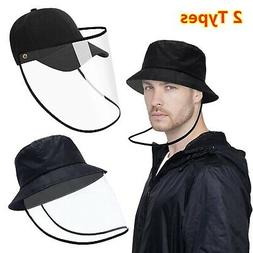 Outdoor Protective Anti-Saliva Baseball Cap Face Shield Buck