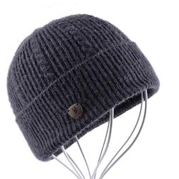 Autumn Bonnet Men's Skullies Winter Beanie Wool Knitted Cap