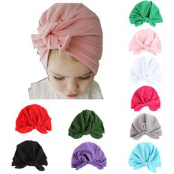 Autumn Winter Velvet Baby Hat For Girls Boys Newborn Turban