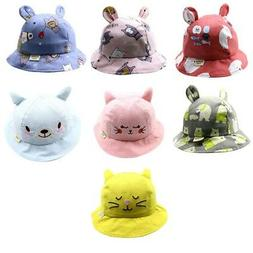 Baby Autumn Boys Girls Toddler Cartoon Bucket Hats Caps Sun