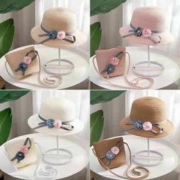 Baby Girls Fashion Straw Hats for Children Summer Beach Sun