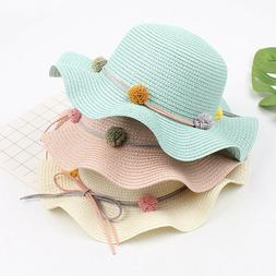 Baby Girls Fashion Straw Hats for Children Summer Beach Sun
