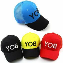 Baby Hats Letters Boy Breathable Mesh Baseball Caps Summer C