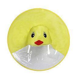 Baby Raincoat, Cute Cartoon Duck Rain Coat UFO Children Umbr
