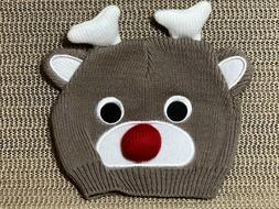 Baby's Rudolph Reindeer winter Hat Beanie 0-6 months New, no