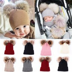 Baby Toddler Girls Boys Infant Warm Winter Knit Beanie Hat C