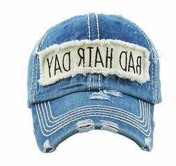 Kbethos Bad Hair Day Washed Vintage Blue Denim Hat