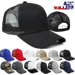 Trucker Hat Mesh Back Baseball Cap Snapback Adjustable Curve